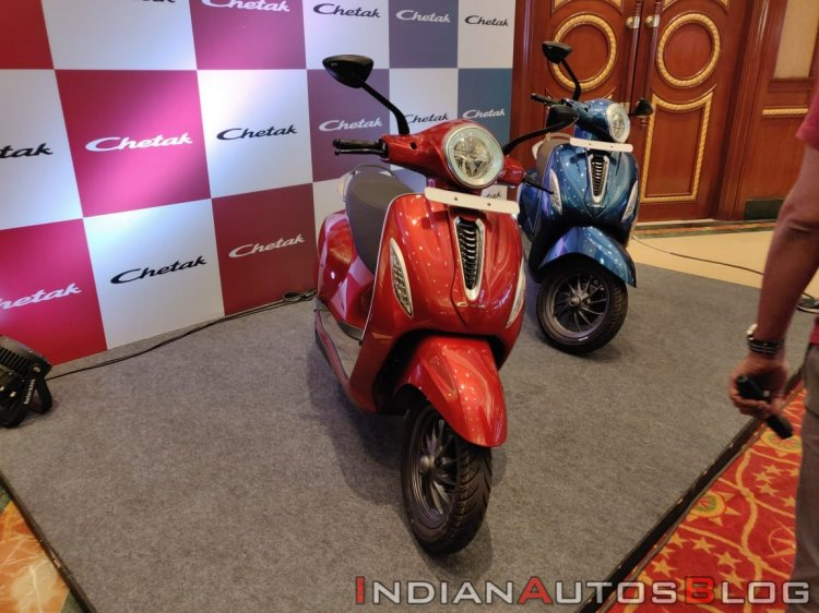 Bajaj Chetak Premium Red And Blue