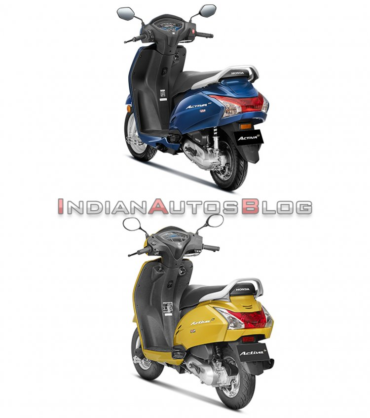 Honda Activa 6g Vs Honda Activa 5g Rear Three Quar