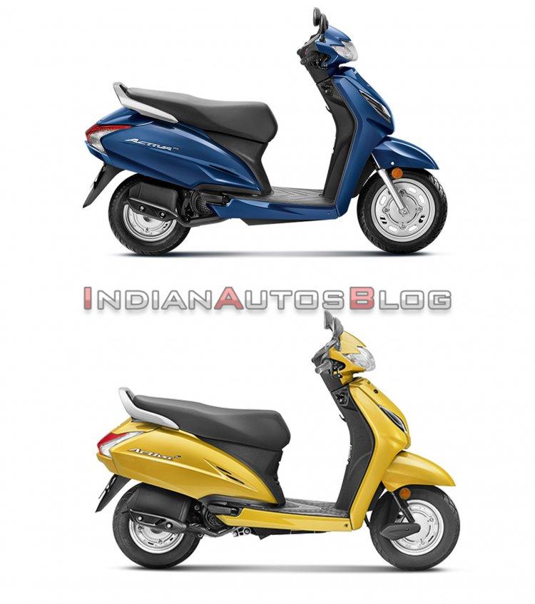 Honda Activa 6g Vs Honda Activa 5g Side Profile Ri