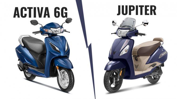Honda Acitva 6g Vs Bs Vi Tvs Jupiter Classic