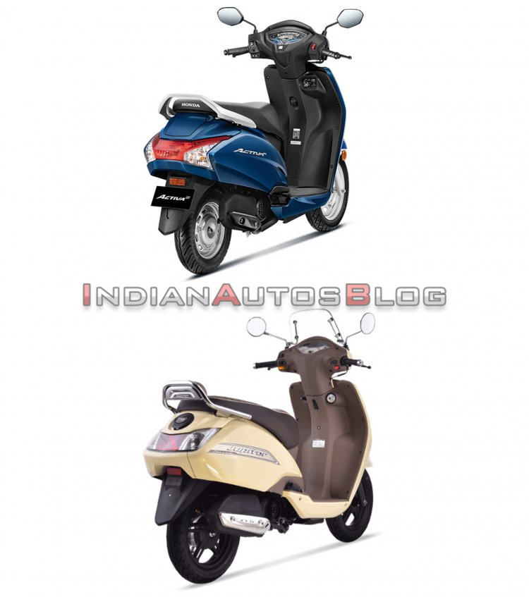 Honda Activa 6g Vs Tvs Jupiter Classic Rear Three