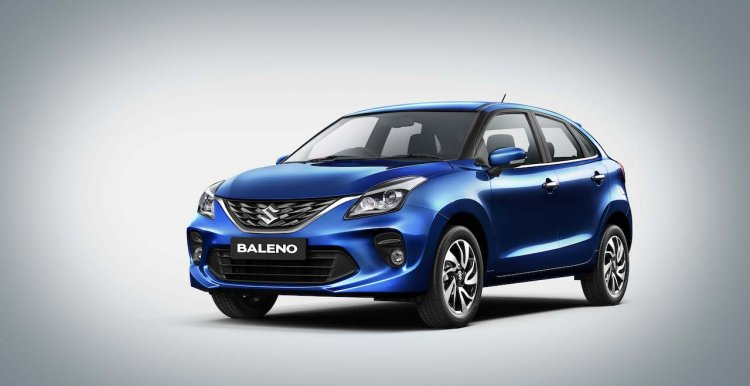 2019 Maruti Baleno Facelift Front Three Quarters L