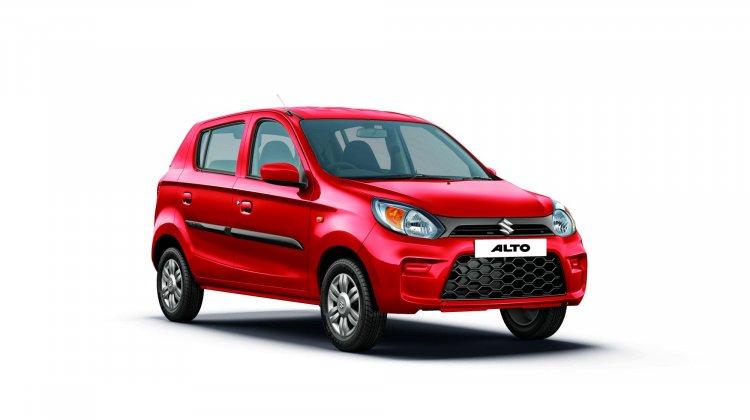 2019 Maruti Alto Facelift Blazing Red Front Three