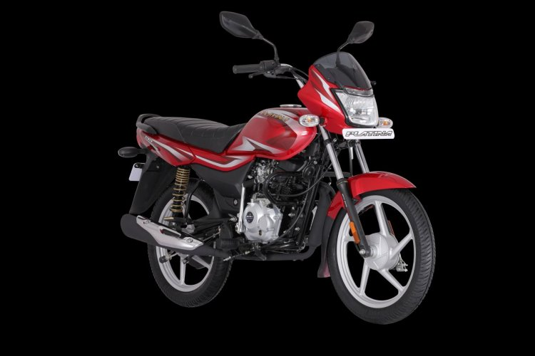 Bs Vi Bajaj Platina 100 Right Front Quarter Dc10