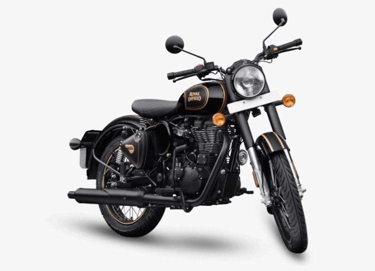 Royal Enfield Classic 500 Tribute Black Front Thre