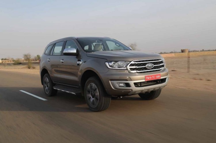 2019 Ford Endeavour Review Images Front Three Quar