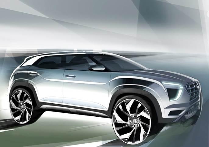 2020 Hyundai Creta Sketch Front