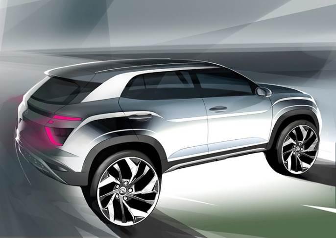 2020 Hyundai Creta Sketch Rear 110d