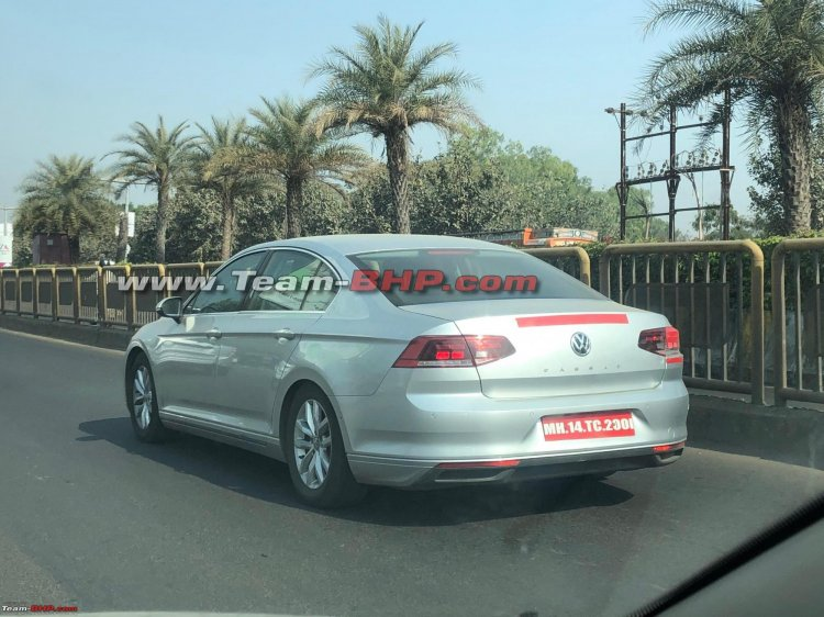 Indian Spec 2020 Vw Passat Facelift Rear Three Qua