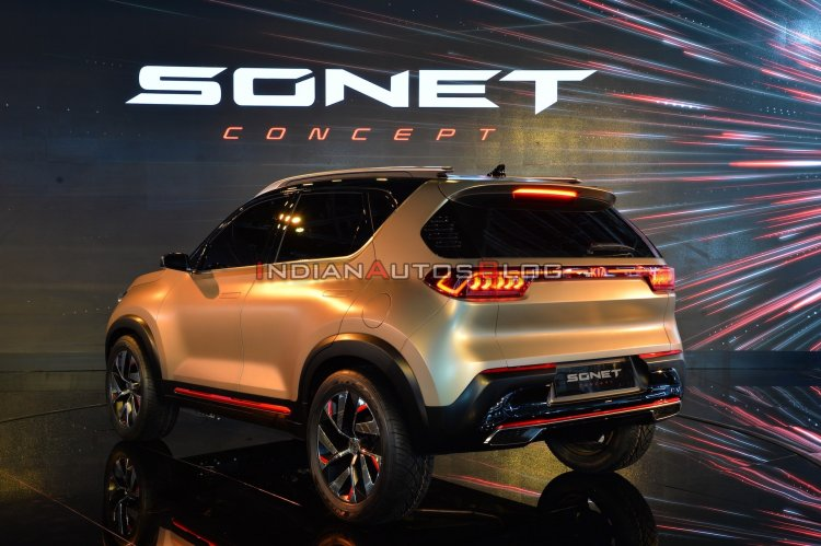 Kia Sonet Concept Rear Three Quarters Live Image