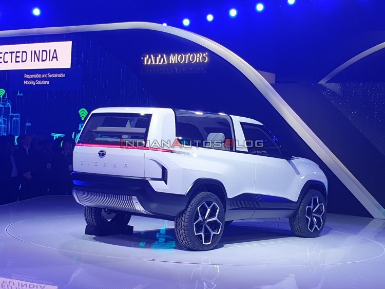 Tata Sierra Concept Rear Three Quarters Right Side