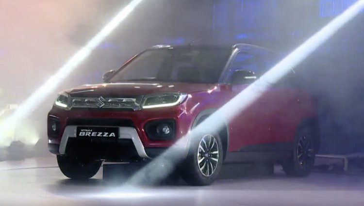 2020 Maruti Vitara Brezza Facelift Front Three Qua