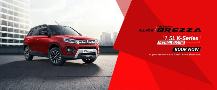 2020 Maruti Vitara Brezza Front Three Quarters Off