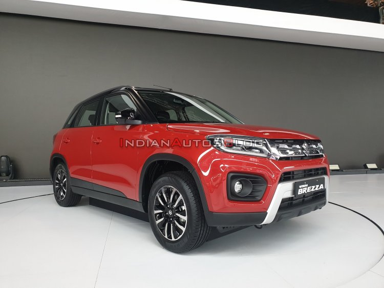 2020 Maruti Vitara Brezza Facelift Red Black Front