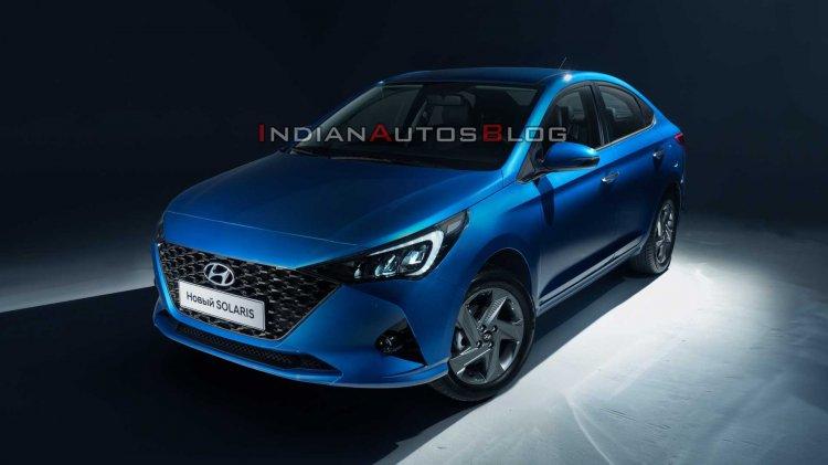 Ru 2020 Hyundai Verna Facelift Front Three Quarter