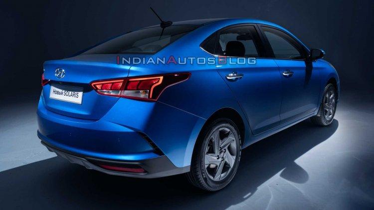 Ru 2020 Hyundai Verna Facelift Rear Three Quarters