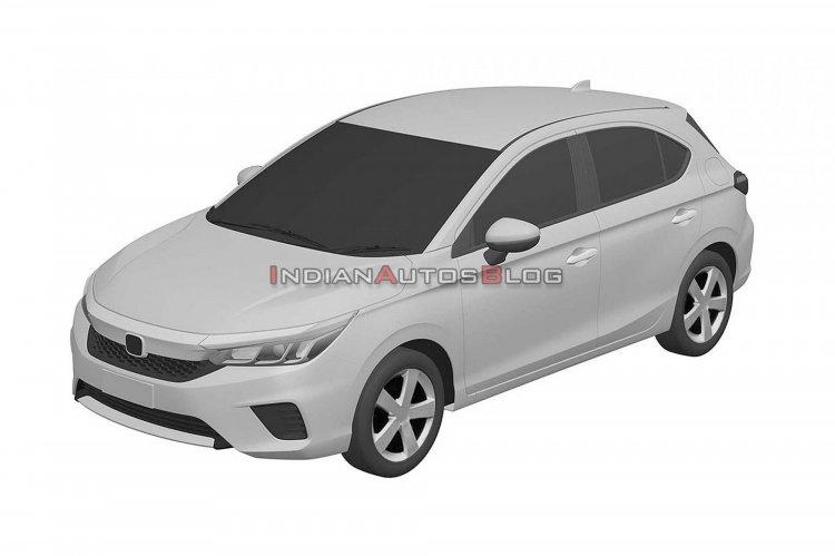 Honda City Hatchback Front Three Quarters Patent