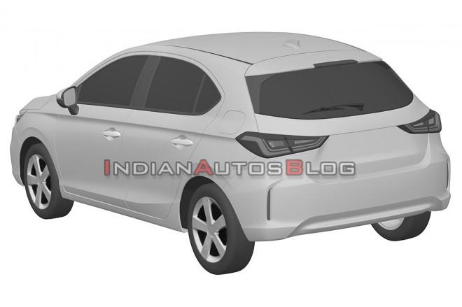 Honda City Hatchback Rear Three Quarters Patent F9