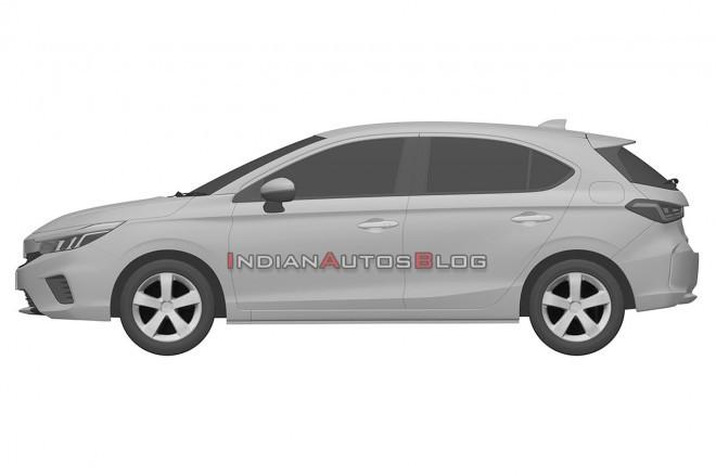 Honda City Hatchback Side Profile Patent 9ac5