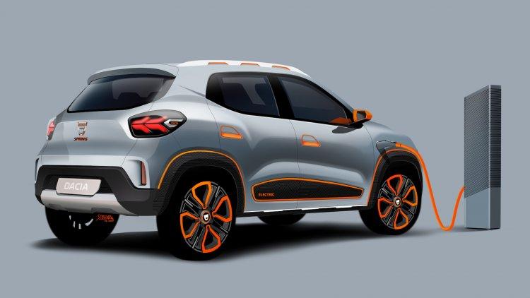 Dacia Spring Electric Renault Kwid Ev Concept Rear