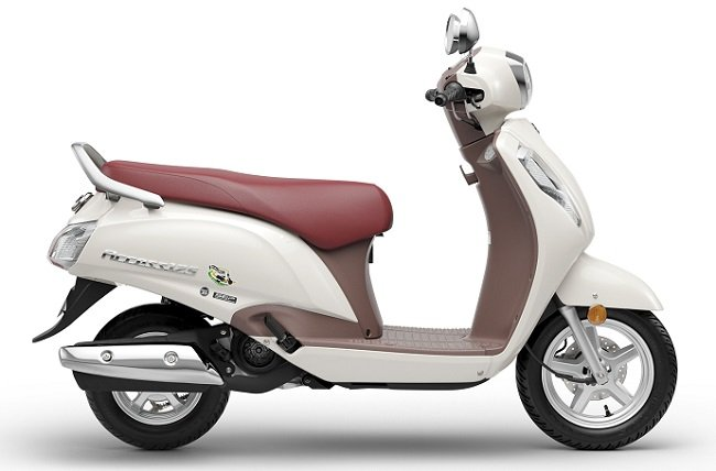 Bs Vi Suzuki Access 125 Right Side White