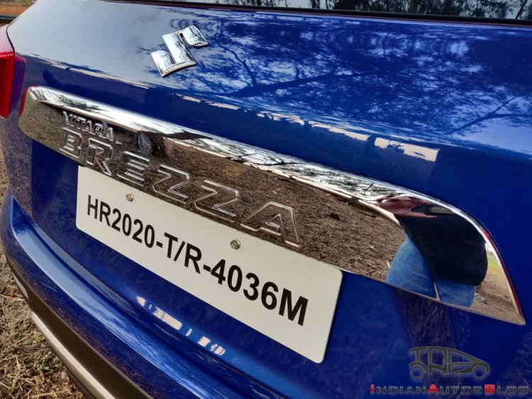 2020 Maruti Vitara Brezza Facelift Rear Registrati