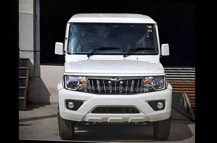 2020 Mahindra Bolero Power Facelift Front Spy Shot