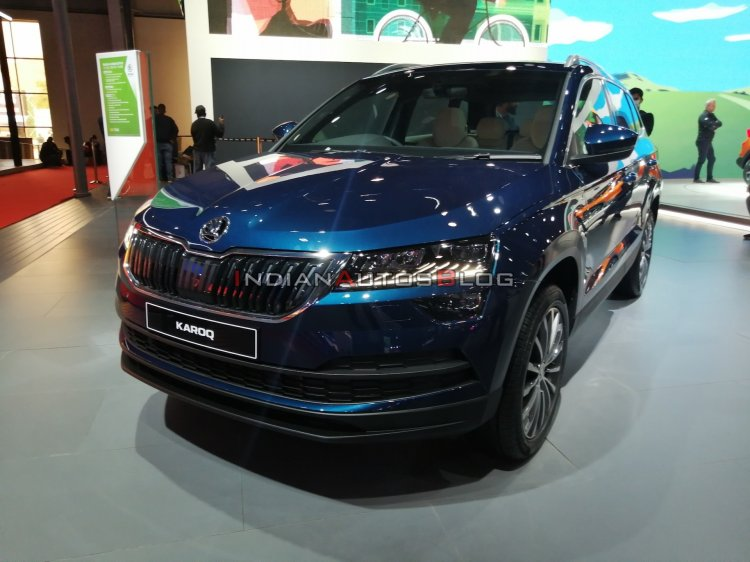 Skoda Karoq Front Three Quarters Auto Expo 2020 52