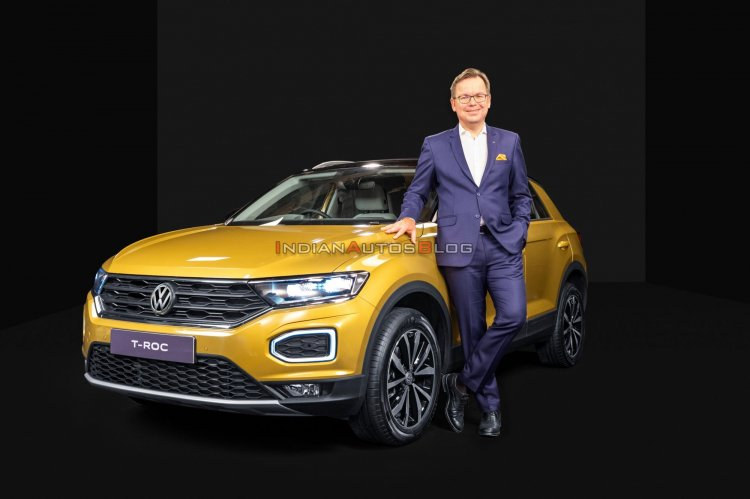 Vw T Roc Front Three Quarters India Launch
