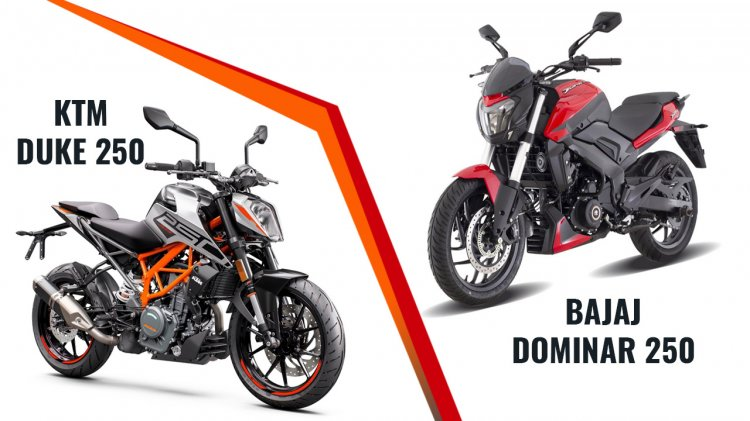 Bajaj Dominar 250 Vs Ktm 250 Duke Front Three Quar