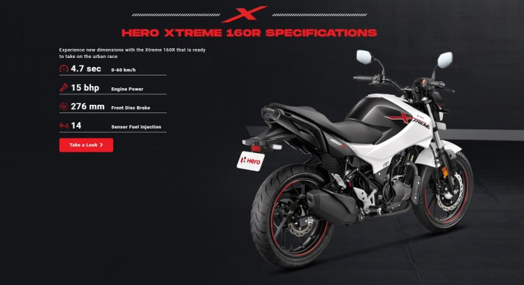 Hero Xtreme 160r Rear Three Quarter Right
