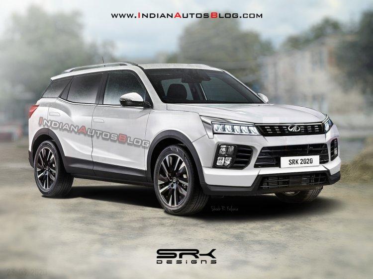 2021 Mahindra Xuv500 White Rendering 54c8