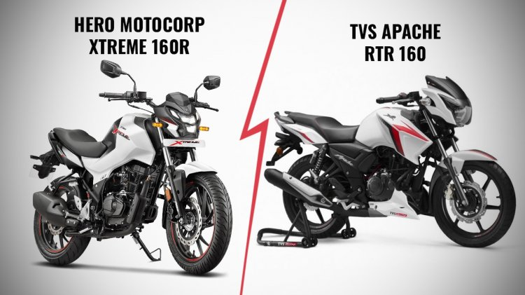Hero Xtreme 160r Vs Tvs Apache Rtr 160 Bs6 Front T