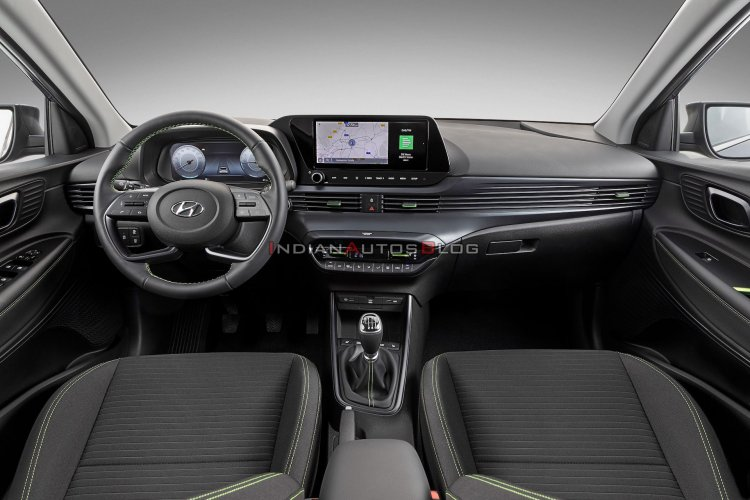 hyundai i20 bs6 launch date in india Interior Dashboard Lime Green Tri