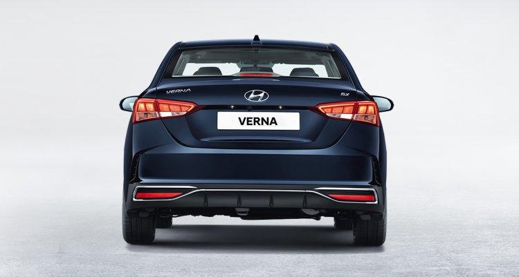 2020 Hyundai Verna Facelift Rear 60b1