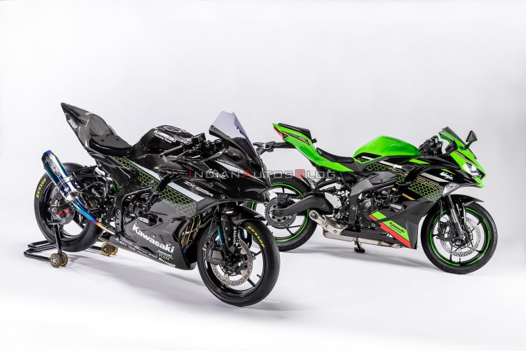 Kawasaki Ninja Zx 25r Race Version And Zx 25r