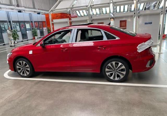 2021 Audi A3 Sedan Side Profile Spy Shot