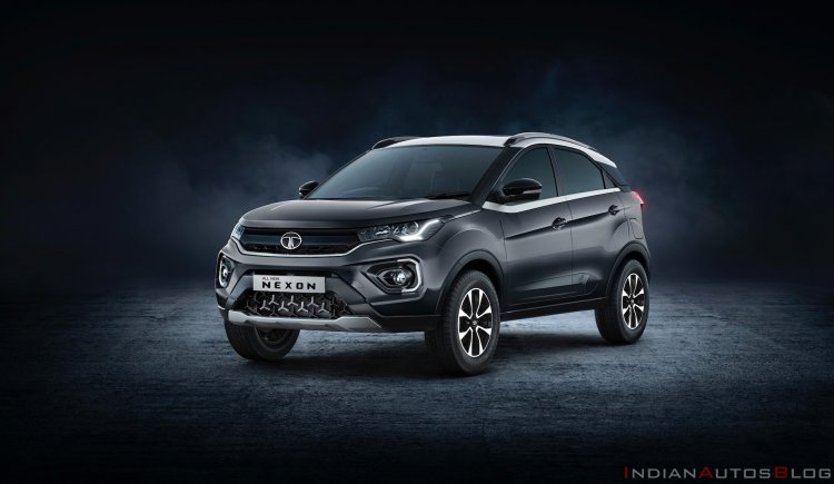 New Tata Nexon 2020 Facelift Front Three Quarters