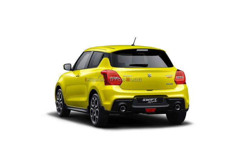 Suzuki Swift Sport Hybrid Rear Three Quarters