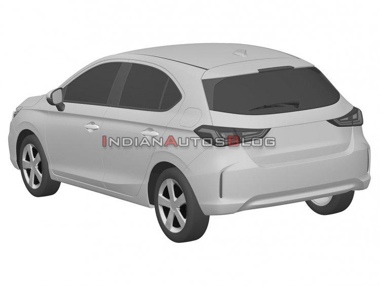 Honda City Hatchback Rear Three Quarters Iab 5f56