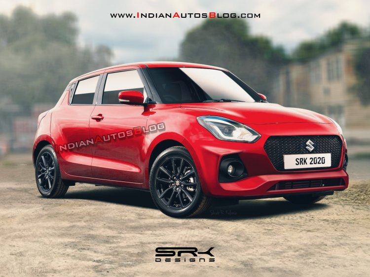 New Maruti Swift Facelift Exterior Rendering