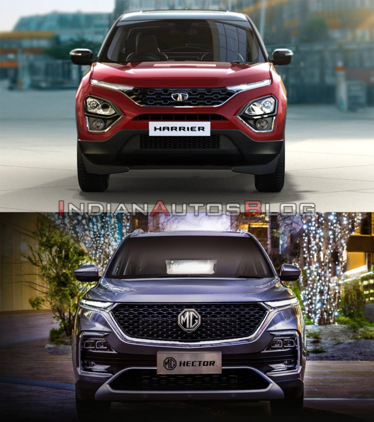 Tata Harrier vs MG Hector - front