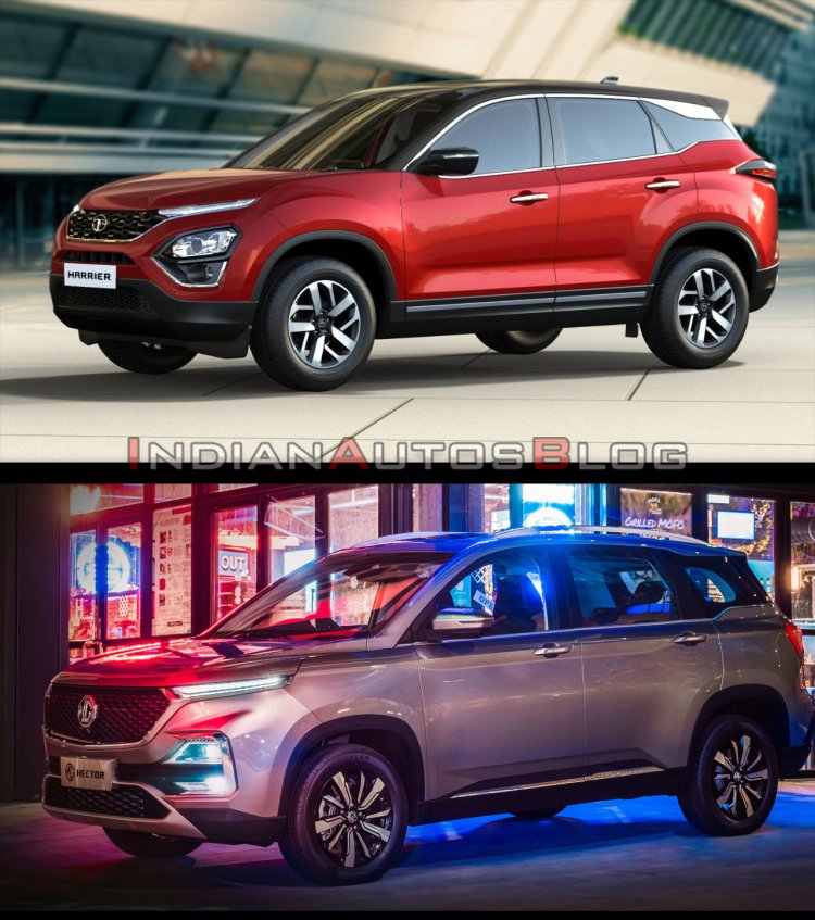Tata Harrier vs MG Hector - side