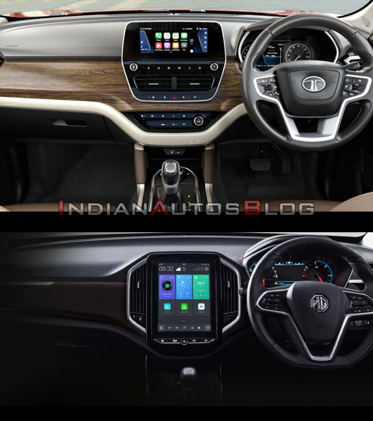 Tata Harrier vs MG Hector - interior