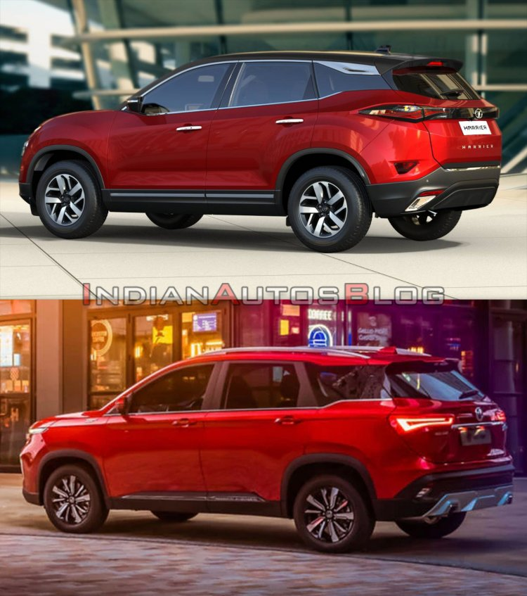 Tata Harrier vs MG Hector - rear