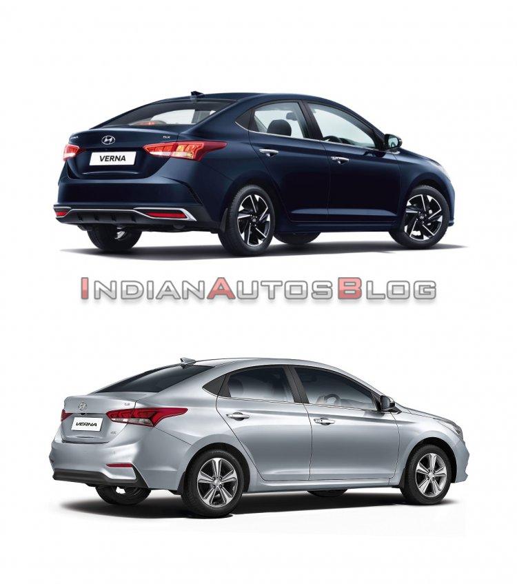 2020 Hyundai Verna vs 2017 Hyundai Verna