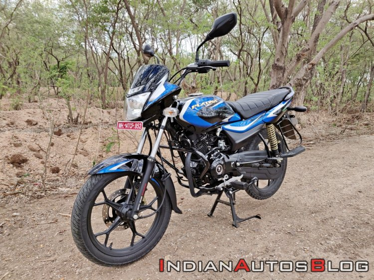 Bajaj Platina 110 H Gear Review Black And Blue Lef