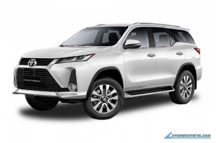 New Toyota Fortuner Facelift 2021 Rendering 6e0c