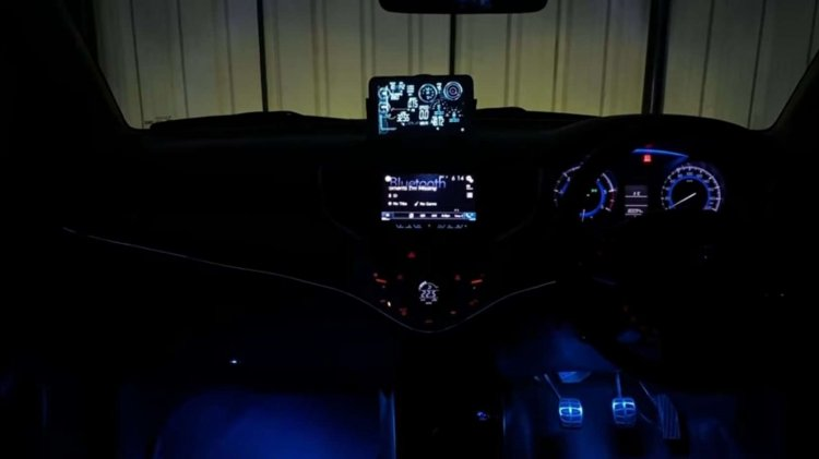 Modified Maruti Baleno interior
