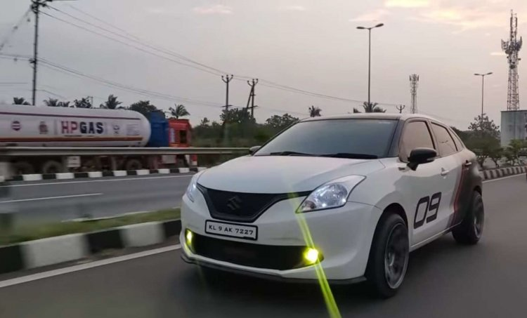 Modified Maruti Baleno front three quarter